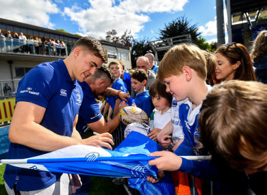Ringrose signing autographs at Sunday's homecoming event at Donnybrook.