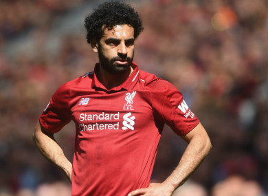 Liverpool forward Mohamed Salah will face Madrid on Saturday.