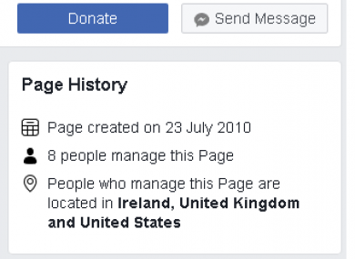Facebook feature shows official Eighth Amendment campaign pages are