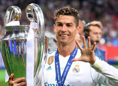 Ronaldo won his fifth Champions League title on Saturday.
