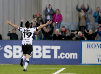 Ronan Murray and Dundalk celebrate against Pat's - but is a schedule full of midweek games sustainable?