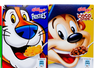 The UK ban could mean foods rich in sugar could no longer use characters like Tony the Tiger.