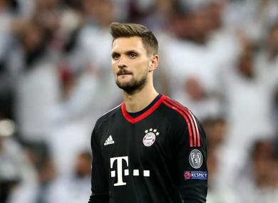 Bayern Munich goalkeeper Sven Ulreich.