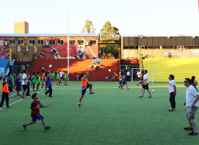 291c124f936fb An expedition to Leo Messi s hometown teaching Argentine children the  traditions of gaelic games