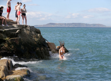 Swimmers at the 40 Foot in Dublin earlier this month.