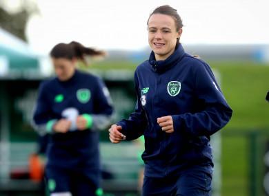 Ireland striker Aine O'Gorman.