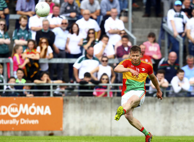 Paul Broderick hit 0-11 during Carlow's victory over Kildare.