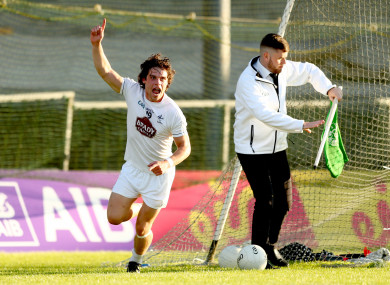 Kildare's Chris Healy celebrates his goal.