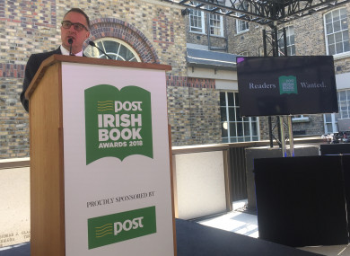 David Redmond, CEO of An Post, on the three-year sponsorship of the Irish Book Awards.