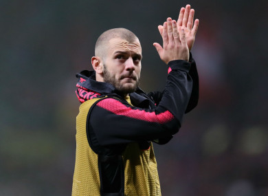Jack Wilshere in his final season at Arsenal