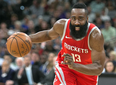 James Harden in action for the Houston Rockets.