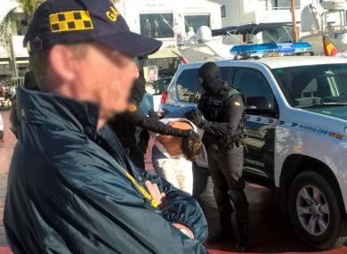 James Quinn arrested in Spain.