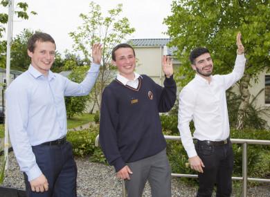 Brothers Patrick, Ben and Liam Kinsella.
