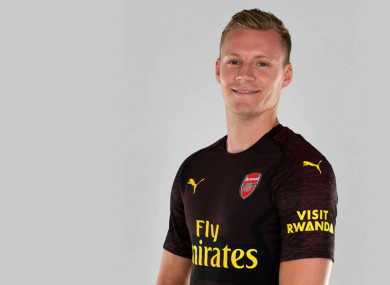 Leno becomes Unai Emery's second signing as Gunners manager.