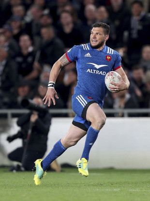 Remy Grosso of France pictured competing against New Zealand.
