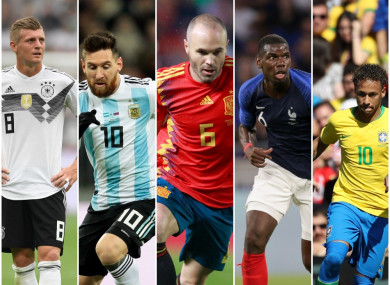 Kroos, Messi, Iniesta, Pogba and Neymar will all be chasing glory.