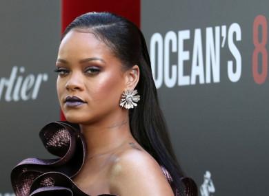 Rihanna attending the Ocean's 8 premiere.