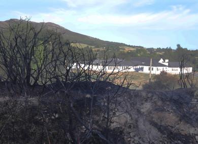 Fire damage in Rocky Valley in Co Wicklow