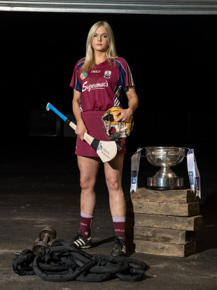Dervan poses at the launch of the Liberty Insurance All Ireland Camogie Championships.