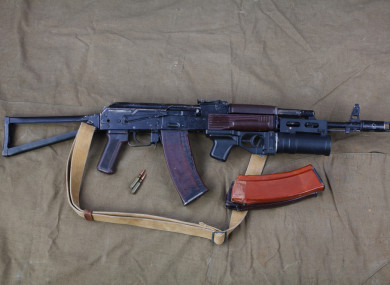 A file photo of an AK47.