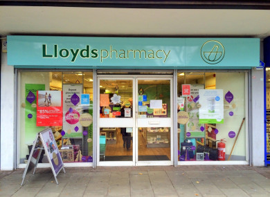 File photo of a Lloyds Pharmacy in England.