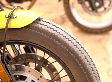 Scrambler motorcycle wheel