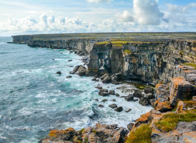 The cliffs on Inis Mór.
