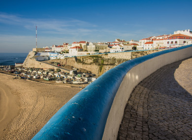 General view of Ericeira beach and houses