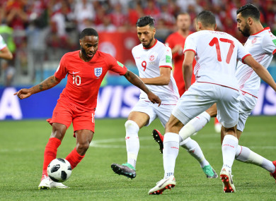Raheem Sterling was one of the England attackers to have an off night this evening.