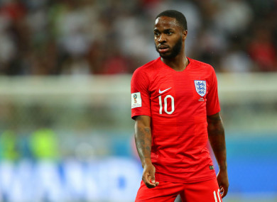 Counter attack: England's Raheem Sterling has had his say.