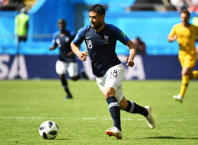 French attacker Fekir in action at the World Cup.
