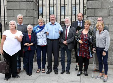 Representatives of the Irish Thalidomide Association outside court.