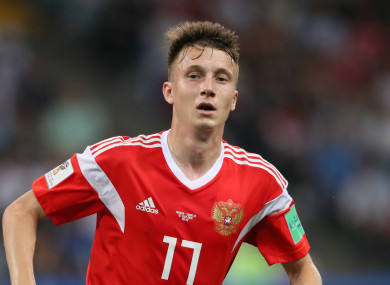 Russia international Aleksandr Golovin