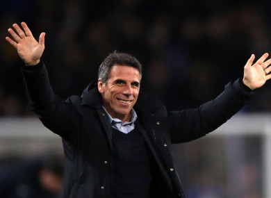 Gianfranco Zola (file pic).