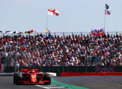 Vettel claimed Ferrari's first win in Britain since 2011 this afternoon.