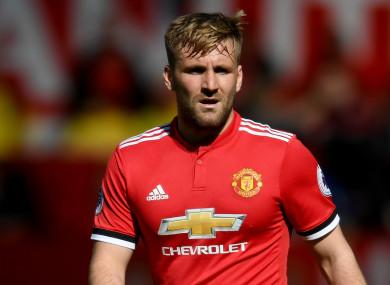 Manchester United left-back Luke Shaw.