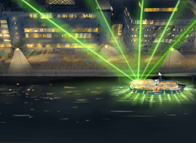 How the boat would look on the Liffey.