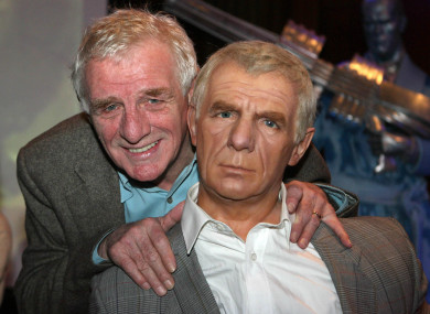 Dunphy pictured with a waxwork of himself in 2009.