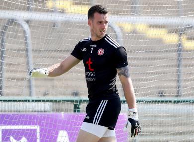 Tyrone goalkeeper Niall Morgan.