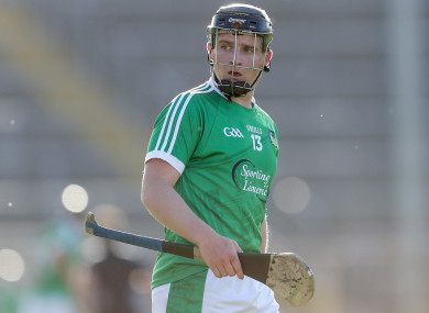 Casey in action against Tipperary in the Munster U21 Hurling Championship semi-final.
