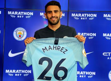 Riyad Mahrez says he didn't hesitate to make the move.