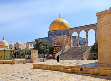 The Temple Mount, a place of conflict between Israel and the Palestinian Authority, Old City of Jerusalem, Israel
