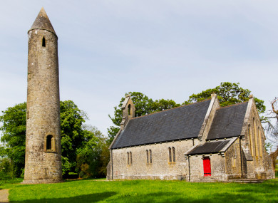 Timahoe Round Tower and centre