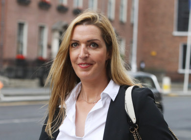 Vicky Phelan arriving at Government Buildings today.