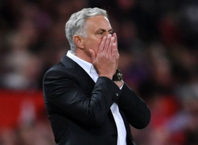 No one is happy, admits the Old Trafford boss.