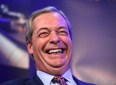 Farage stepped down from UKIP in 2016.