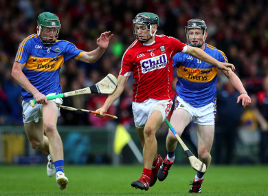 Cork's Mark Coleman in action against the Tipperary rearguard.