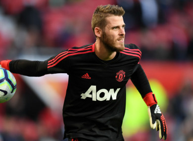 a8131221c Number one De Gea will extend United contract soon