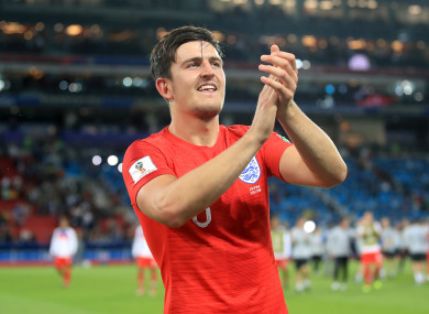 Maguire performed well for England at this summer's World Cup.
