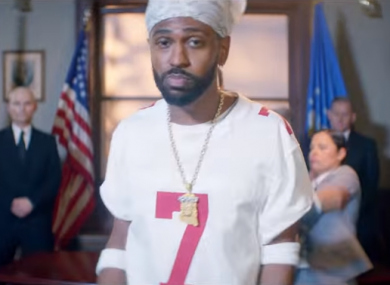 Big Sean also wore Kaepernick's 49ers jersey in the video for Big Bank.